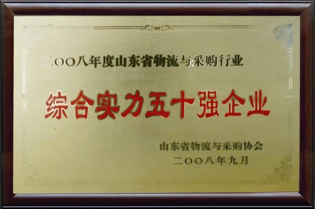 综合实力五十强企业(2008)
